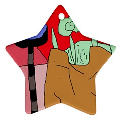 Imaginative abstraction Star Ornament (Two Sides)