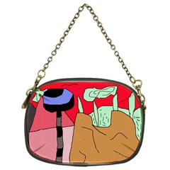 Imaginative abstraction Chain Purses (Two Sides)