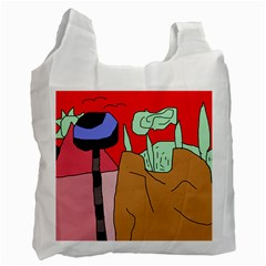 Imaginative abstraction Recycle Bag (Two Side)