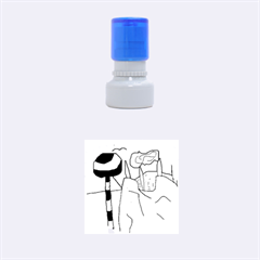Imaginative abstraction Rubber Round Stamps (Small)