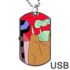 Imaginative abstraction Dog Tag USB Flash (One Side)