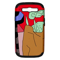 Imaginative abstraction Samsung Galaxy S III Hardshell Case (PC+Silicone)