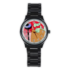 Imaginative abstraction Stainless Steel Round Watch