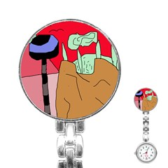 Imaginative abstraction Stainless Steel Nurses Watch