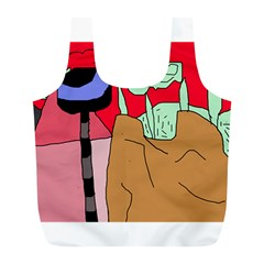 Imaginative abstraction Full Print Recycle Bags (L)