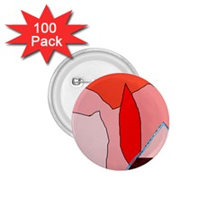 Red landscape 1.75  Buttons (100 pack)