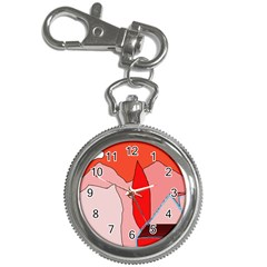 Red landscape Key Chain Watches