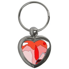 Red landscape Key Chains (Heart)