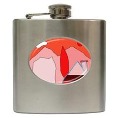 Red landscape Hip Flask (6 oz)