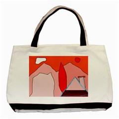 Red landscape Basic Tote Bag