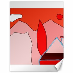 Red landscape Canvas 36  x 48