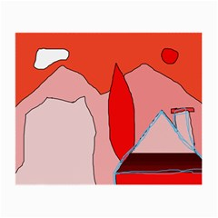 Red landscape Small Glasses Cloth (2-Side)