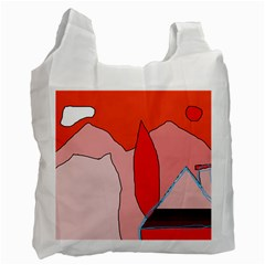 Red landscape Recycle Bag (One Side)