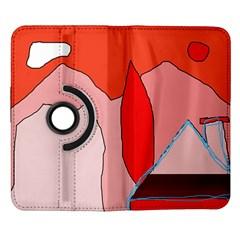 Red landscape Samsung Galaxy Note II Flip 360 Case