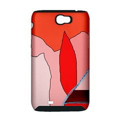 Red landscape Samsung Galaxy Note 2 Hardshell Case (PC+Silicone)