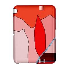 Red landscape Amazon Kindle Fire (2012) Hardshell Case
