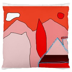 Red landscape Standard Flano Cushion Case (Two Sides)