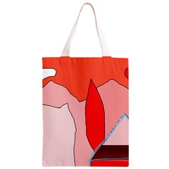 Red landscape Classic Light Tote Bag
