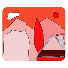 Red landscape Double Sided Flano Blanket (Small)