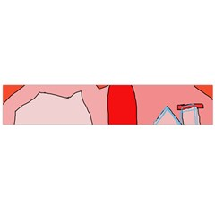 Red landscape Flano Scarf (Large)