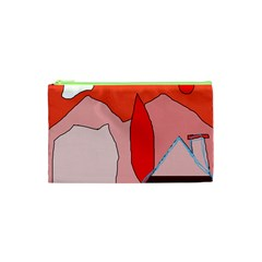 Red landscape Cosmetic Bag (XS)