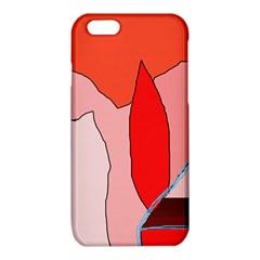 Red landscape iPhone 6/6S TPU Case
