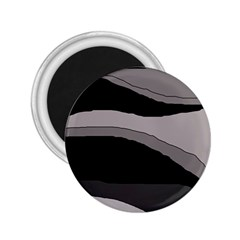 Black and gray design 2.25  Magnets
