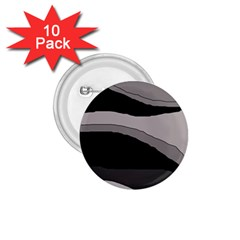 Black and gray design 1.75  Buttons (10 pack)