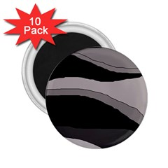 Black and gray design 2.25  Magnets (10 pack)
