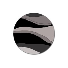 Black and gray design Magnet 3  (Round)