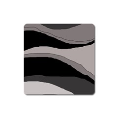Black and gray design Square Magnet