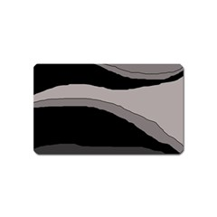 Black and gray design Magnet (Name Card)