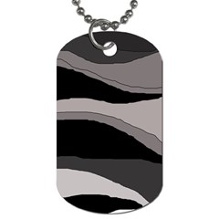 Black and gray design Dog Tag (One Side)