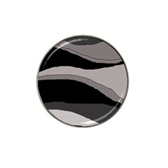 Black and gray design Hat Clip Ball Marker (4 pack)