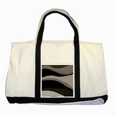 Black and gray design Two Tone Tote Bag