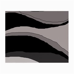 Black and gray design Small Glasses Cloth (2-Side)