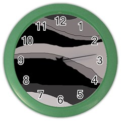 Black and gray design Color Wall Clocks