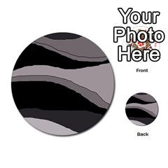 Black and gray design Multi-purpose Cards (Round)