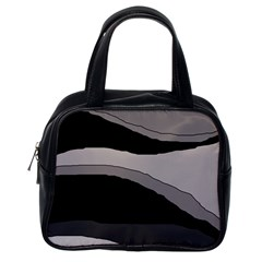 Black and gray design Classic Handbags (One Side)