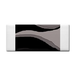 Black and gray design Hand Towel