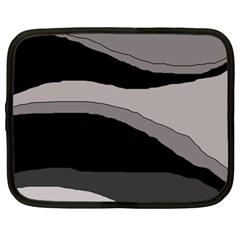 Black and gray design Netbook Case (XL)
