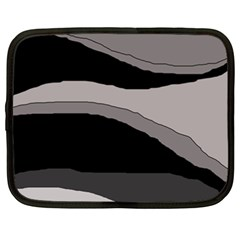 Black and gray design Netbook Case (XXL)