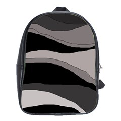 Black and gray design School Bags(Large)