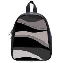 Black and gray design School Bags (Small)