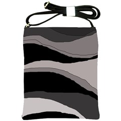 Black and gray design Shoulder Sling Bags