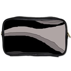 Black and gray design Toiletries Bags