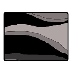 Black and gray design Fleece Blanket (Small)