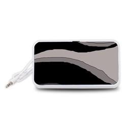 Black and gray design Portable Speaker (White)
