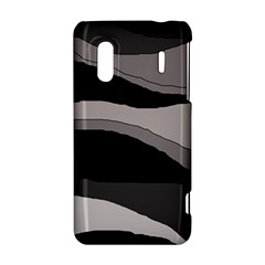 Black and gray design HTC Evo Design 4G/ Hero S Hardshell Case