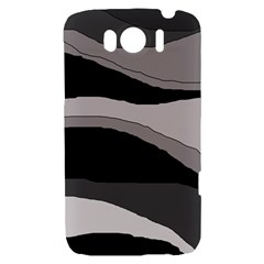 Black and gray design HTC Sensation XL Hardshell Case